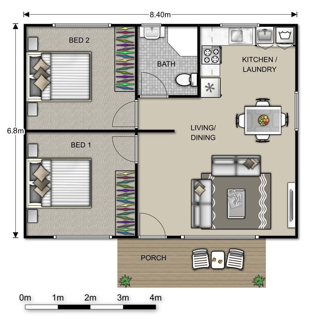 Image Result For 2 Bed Granny Flat Floor Plans House Plans