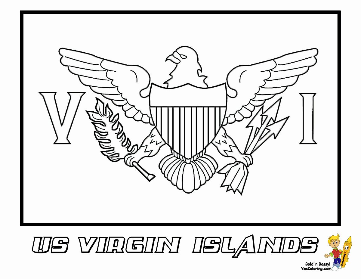 African American Flag Coloring Page