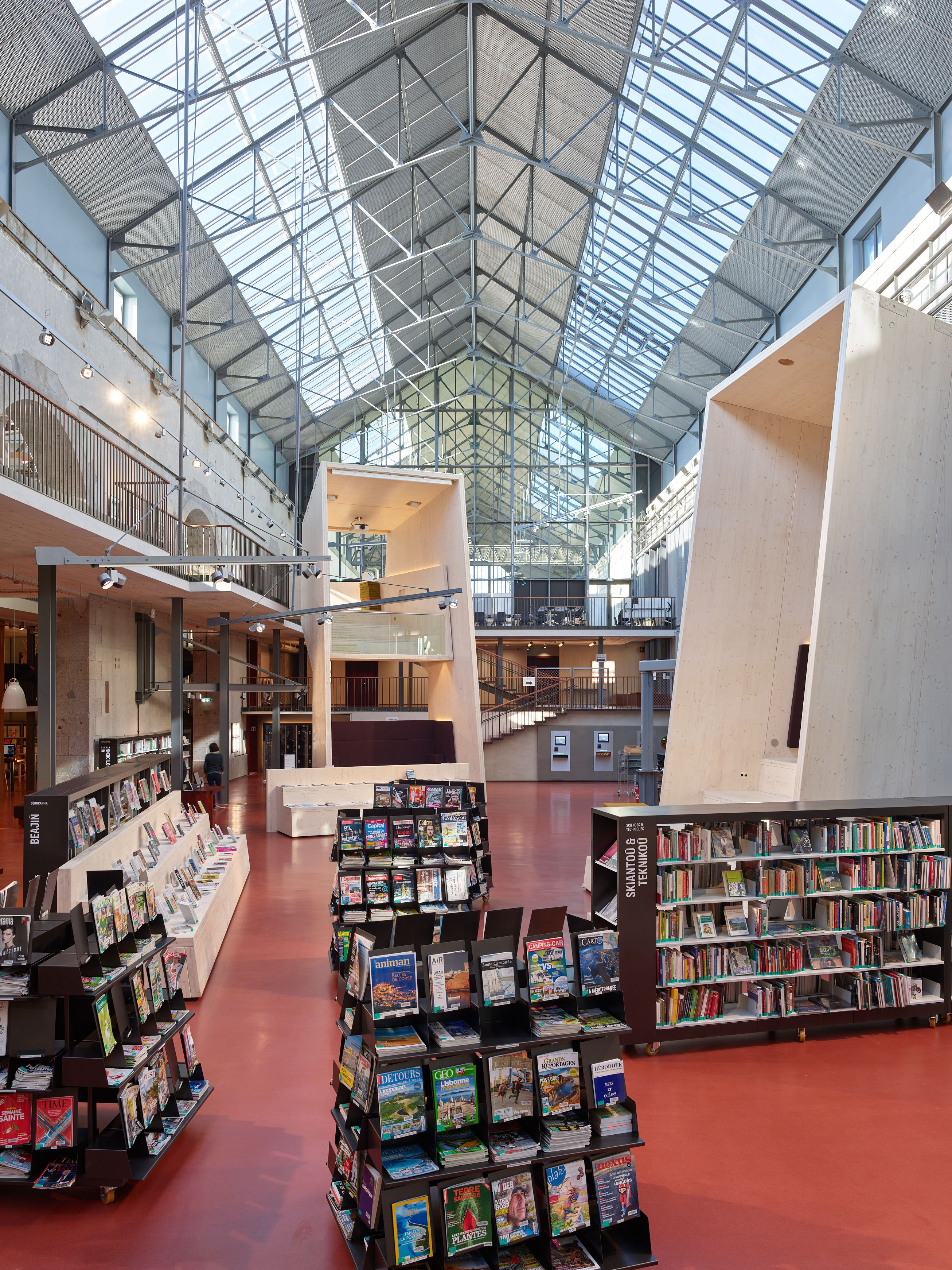 rayonnages mediatheque brest nantes