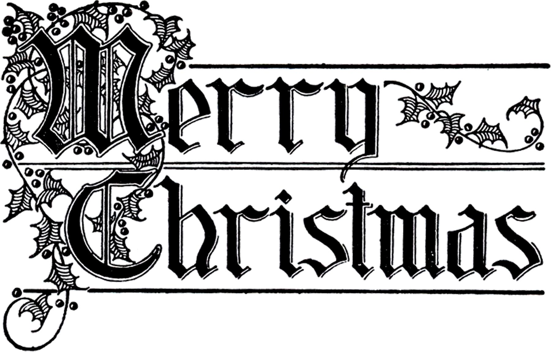12 Retro Black And White Christmas Clipart Christmas Calligraphy Christmas Typography Merry Christmas Calligraphy