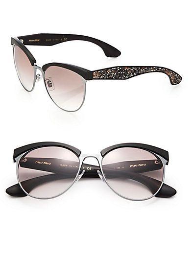 c1c30d6439d74 Miu Miu - Oversized 56MM Round Sunglasses. Óculos GigantesÓculos De Sol ...