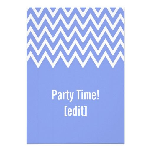 Zigzag On Blue - Card Invitation