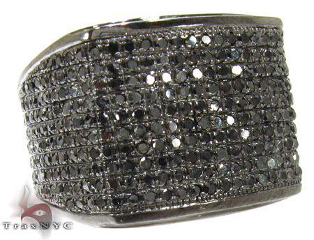 mens black diamond all around wedding ring mens black diamond rings - Black Diamond Wedding Rings For Him