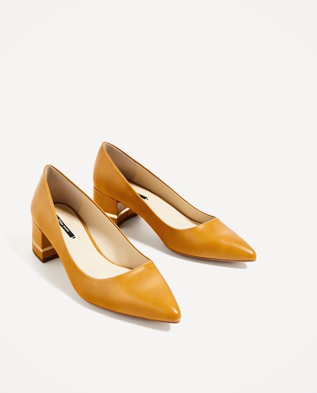 e3b112fa ZAPATO TACÓN ANCHO DETALLE METAL-Zapatos tacón-ZAPATOS-MUJER | ZARA Estados  Unidos