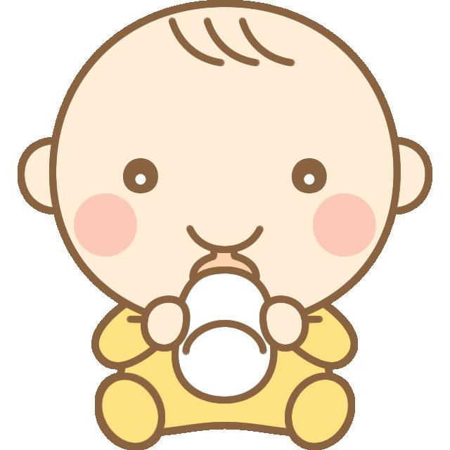 ミルクを飲むかわいい赤ちゃん 赤ん坊 のイラスト 赤ん坊 子供イラスト イラスト