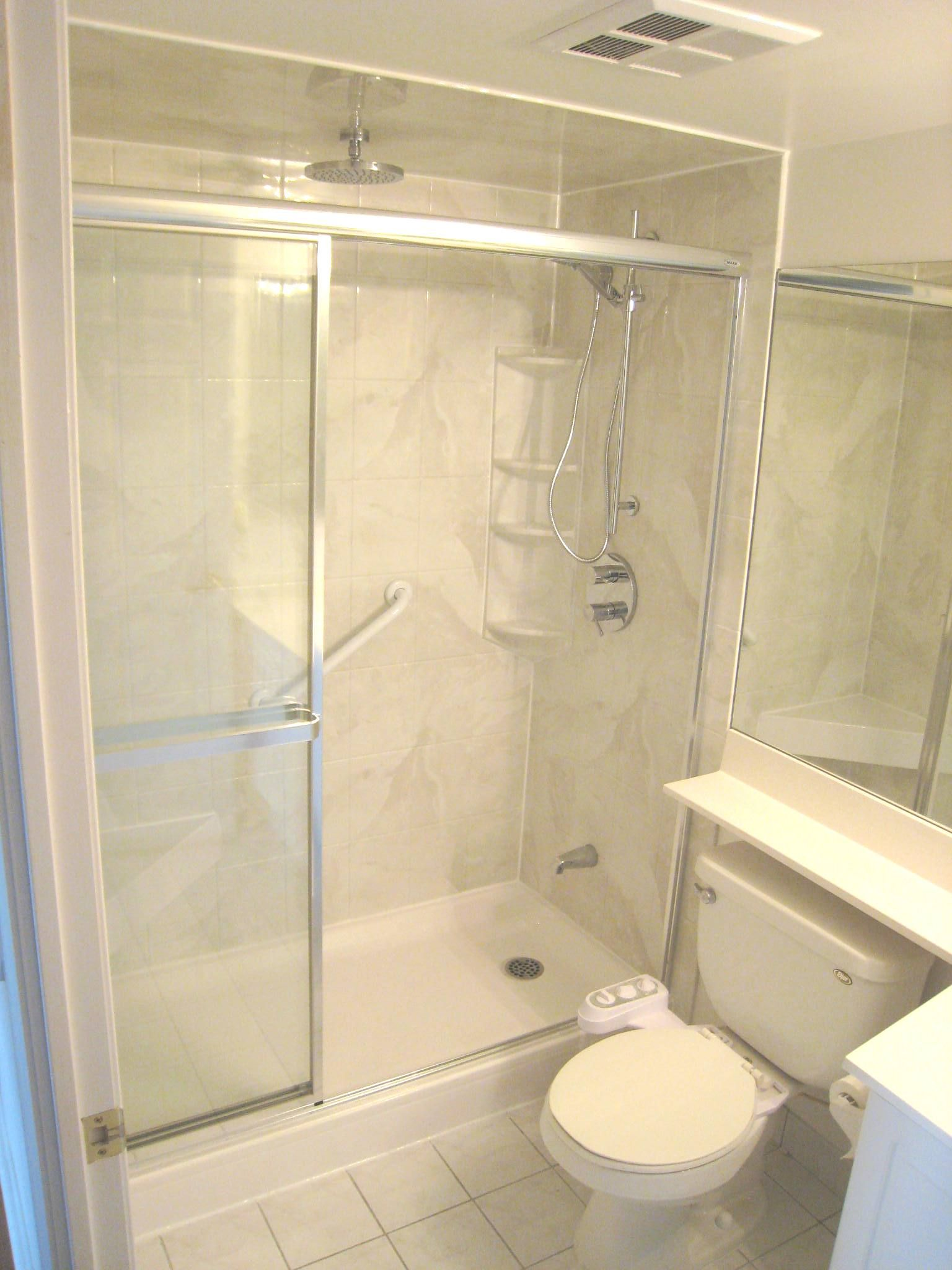 Huge Update To This Bathroom With A Simple Tub To Shower Conversion Using  Acrylic Wall Liners. Just 2 Days From Start To Finish And Super Easy To  Clean And ...