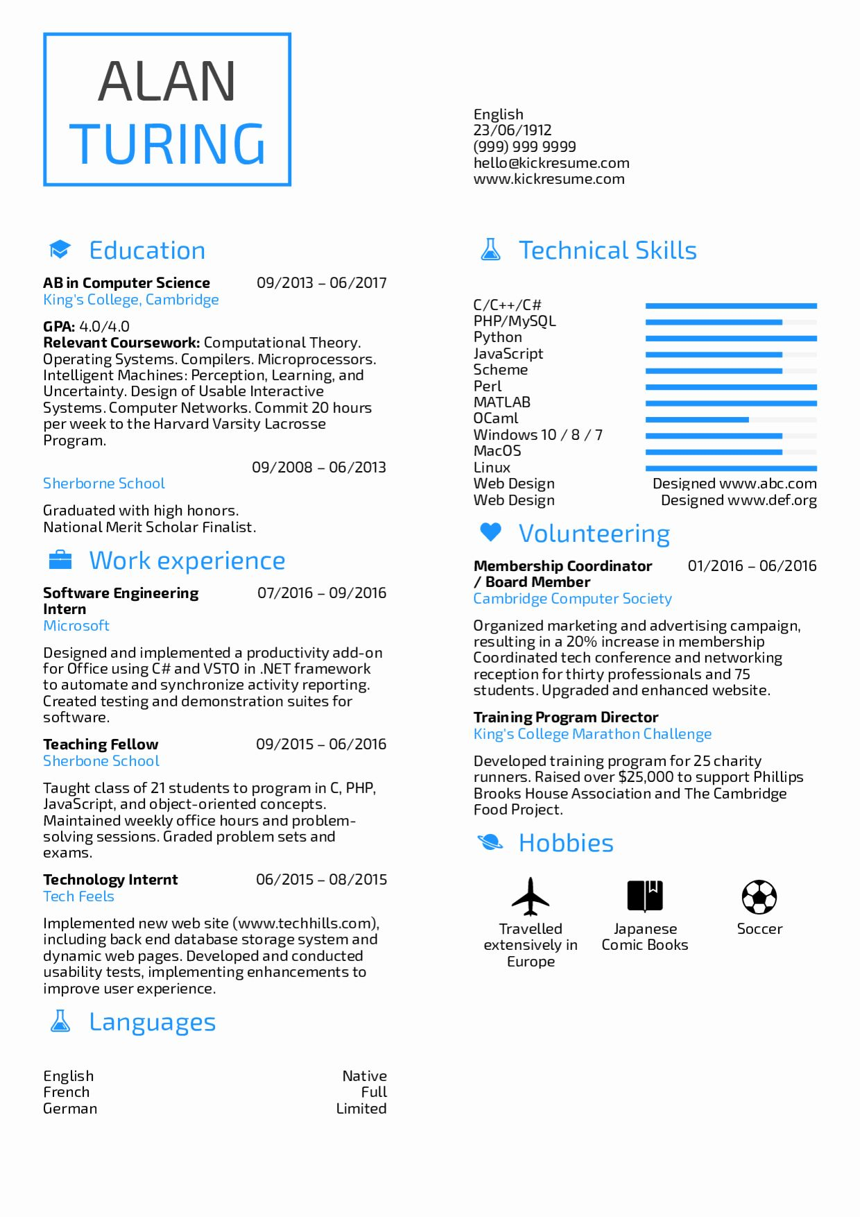 Computer science resume example lovely resume examples by