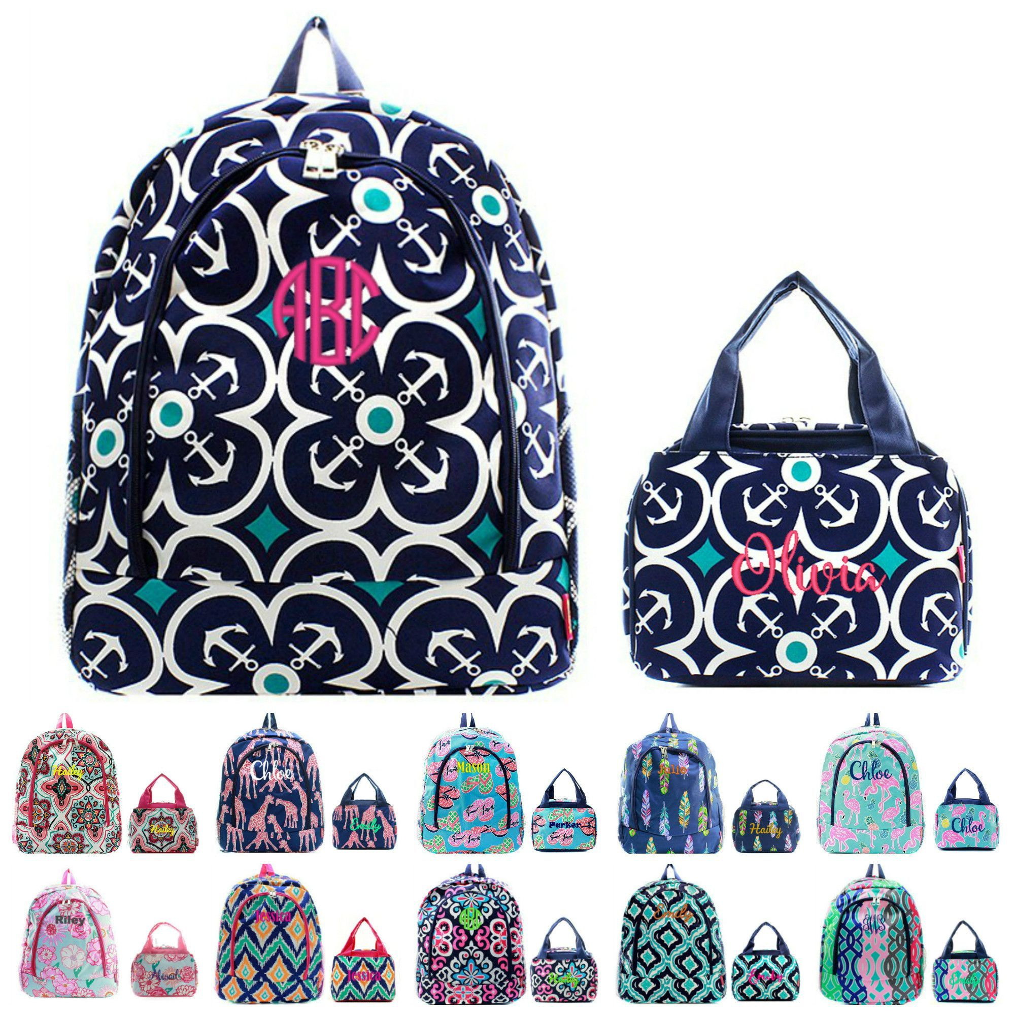Personalized Matching Kids Backpack & Lunch Bag Set | Kids ...