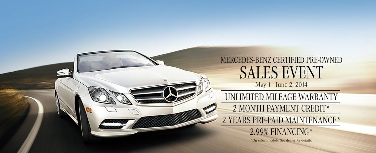 Join us for the MercedesBenz Certified PreOwned event