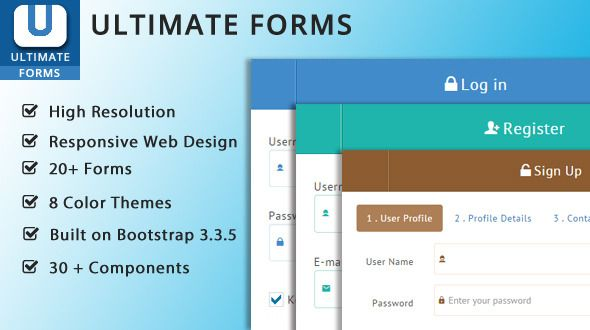 Ultimate Bootstrap Forms | Code Script | Wordpress template
