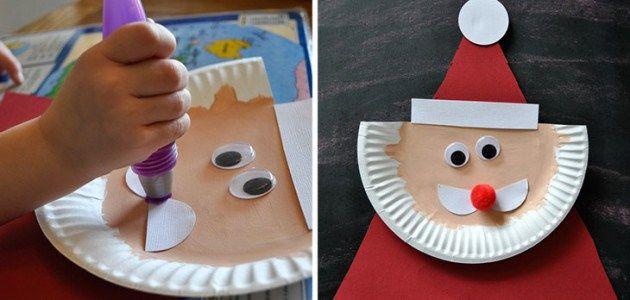 Manualidades navide as con platos desechables platos - Manualidades con papel navidenas ...