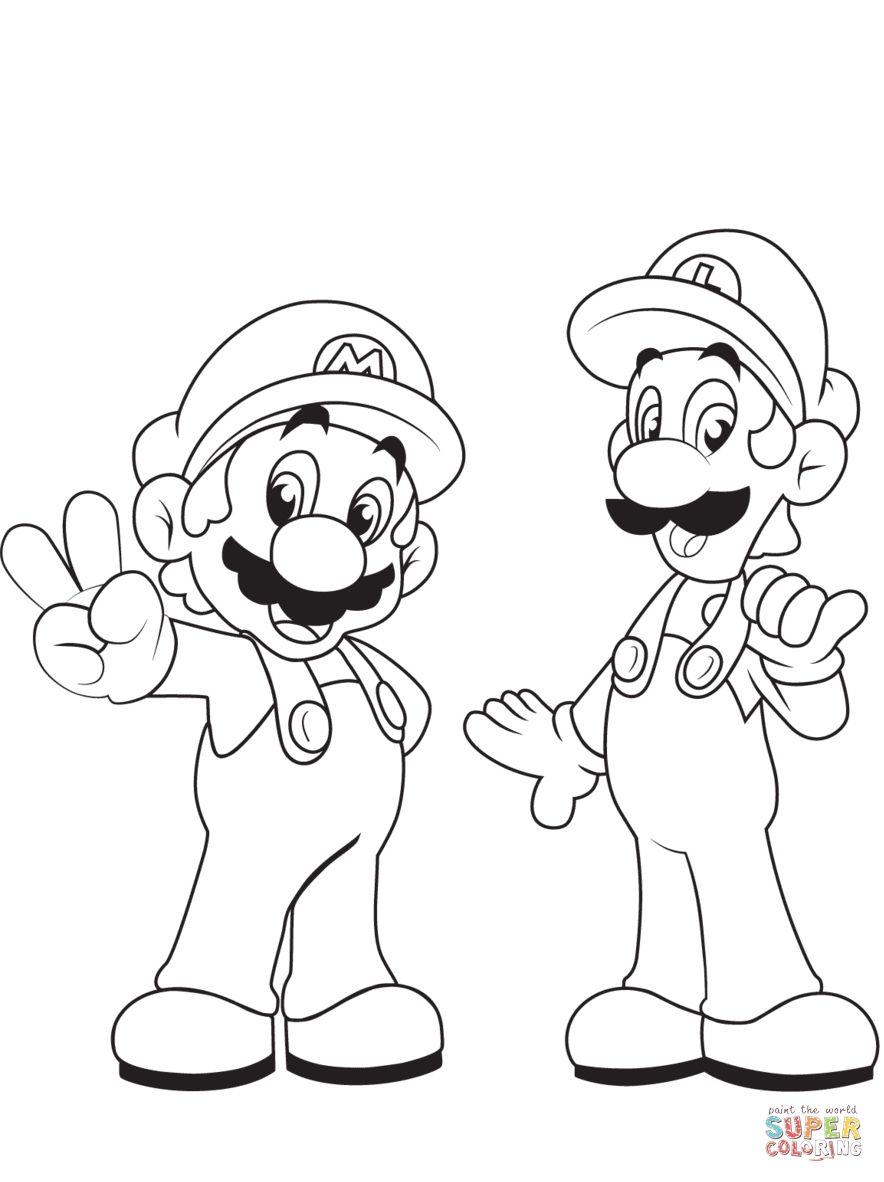 30 Coloring Pages Mario And Luigi Super Mario Coloring Pages Mario Coloring Pages Bear Coloring Pages