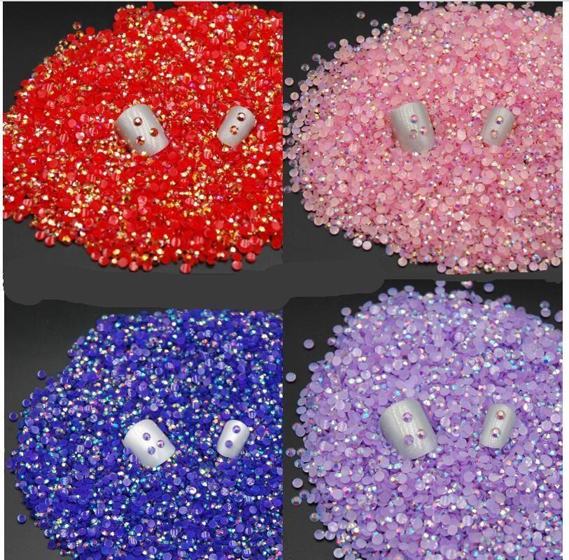 3 미리메터 100 개 네일 스톤 황금 스티커 ab 컬러 라운드 캔디 색상 diy 보석 액세서리 재료 평면 다이아몬드 100
