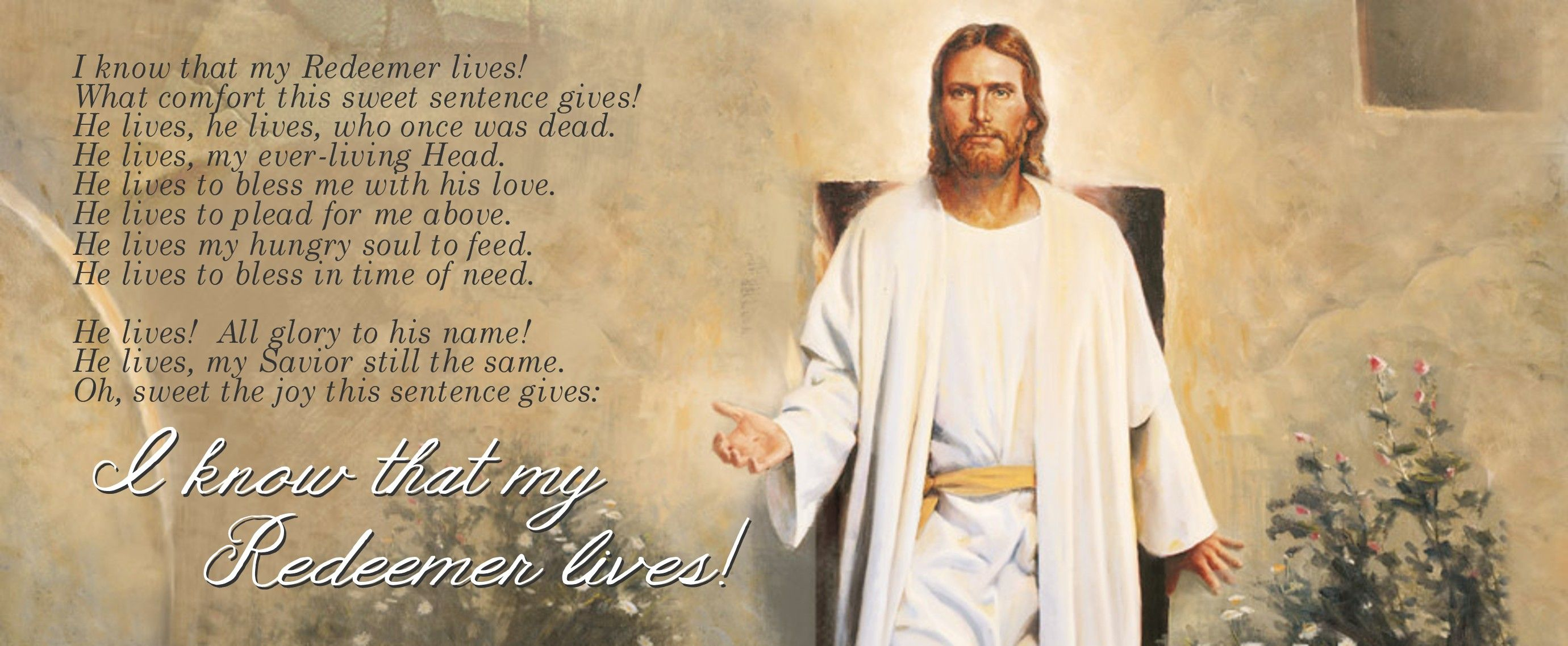 I Know That My Redeemer Lives Lds Easter Free Facebook Cover
