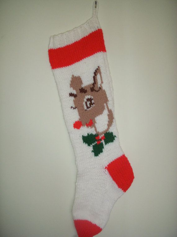 Hand-Knitted Personalized Rudolph Christmas by dhammerstone ...