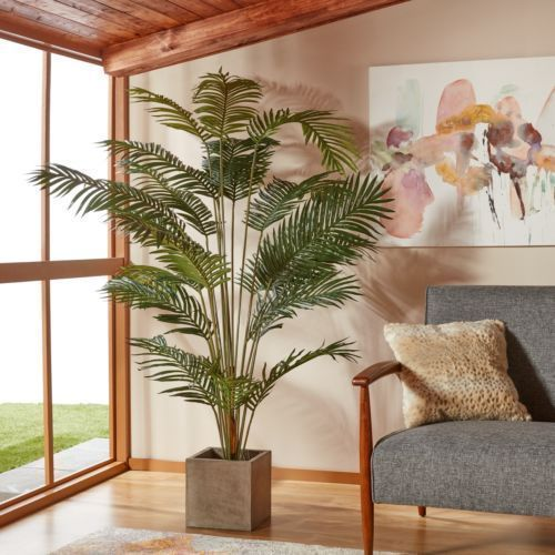 Paradise Palm Silk Tree 7 Ft Realistic Artificial Plant Living Room Home Palmtree Silk Arti Artificial Plants Indoor Artificial Plant Wall Artificial Plants