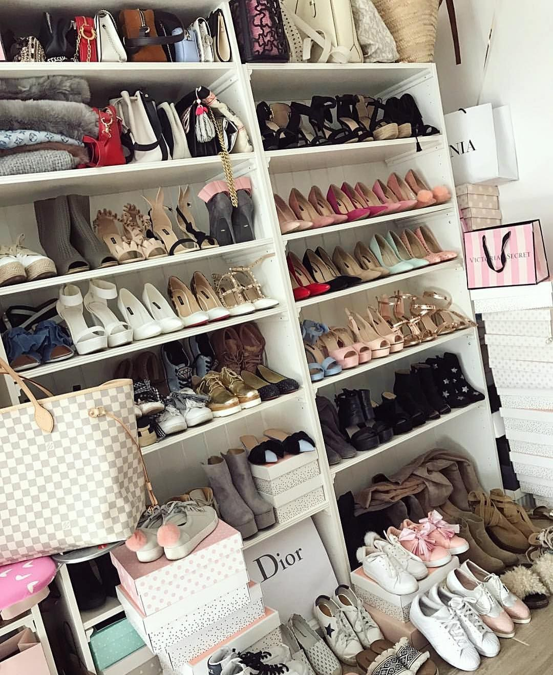 8 291 Likes 35 Comments Every Girl Is Worth A Million Millionmamas On Instagram Small Shoe Collection X Mi Small Shoes Sneaker Storage Room Closet