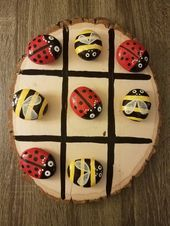 Bumblebees vs Ladybugs Tic Tac Toe game #LuckyYouRocks by Casandra Johnson on In...   Me, My Pleasure and Its Housekeeper   Pin To Pin