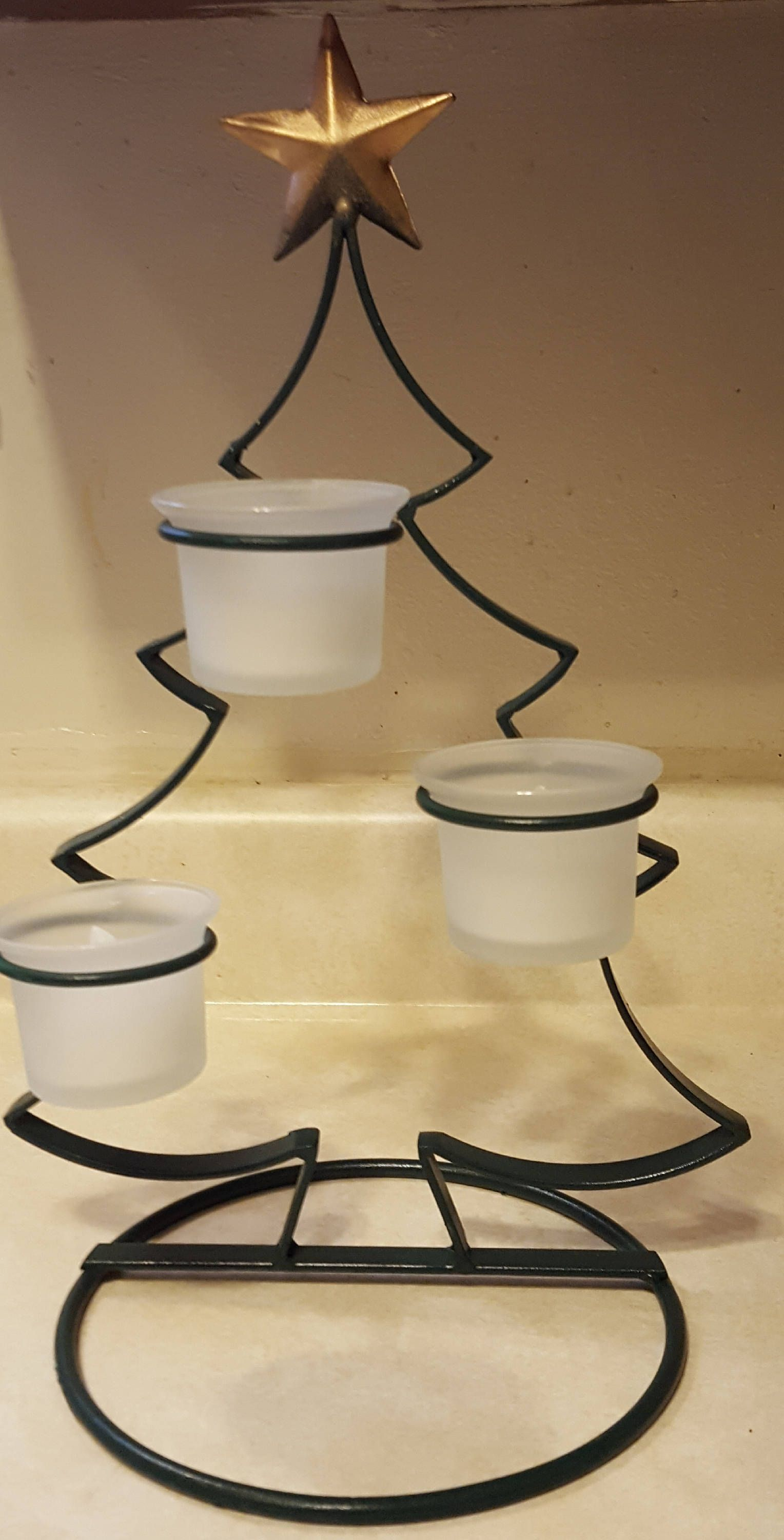 Christmas Tree Votive Candle Holder, Christmas Tree Pot Holder ...
