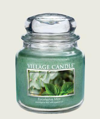 Eucalyptus Mint Scented Candle Eucalyptus Leaf Spearmint