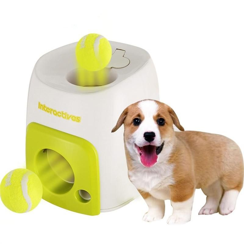 Pet Dog Puppy Interactive Fetch Ball Training Baseball Reward