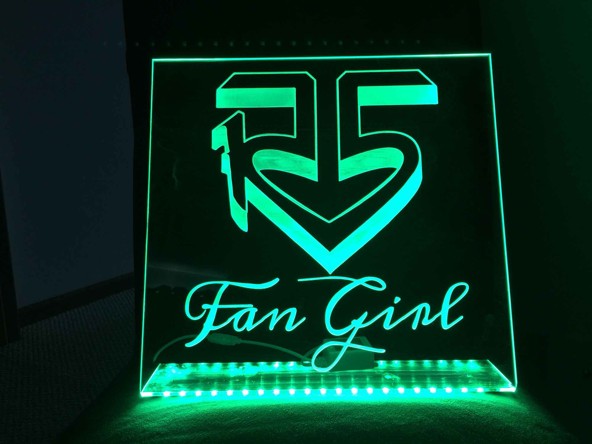 Laser Engraved Acrylic Edge Lit Led Sign Cook S Creative