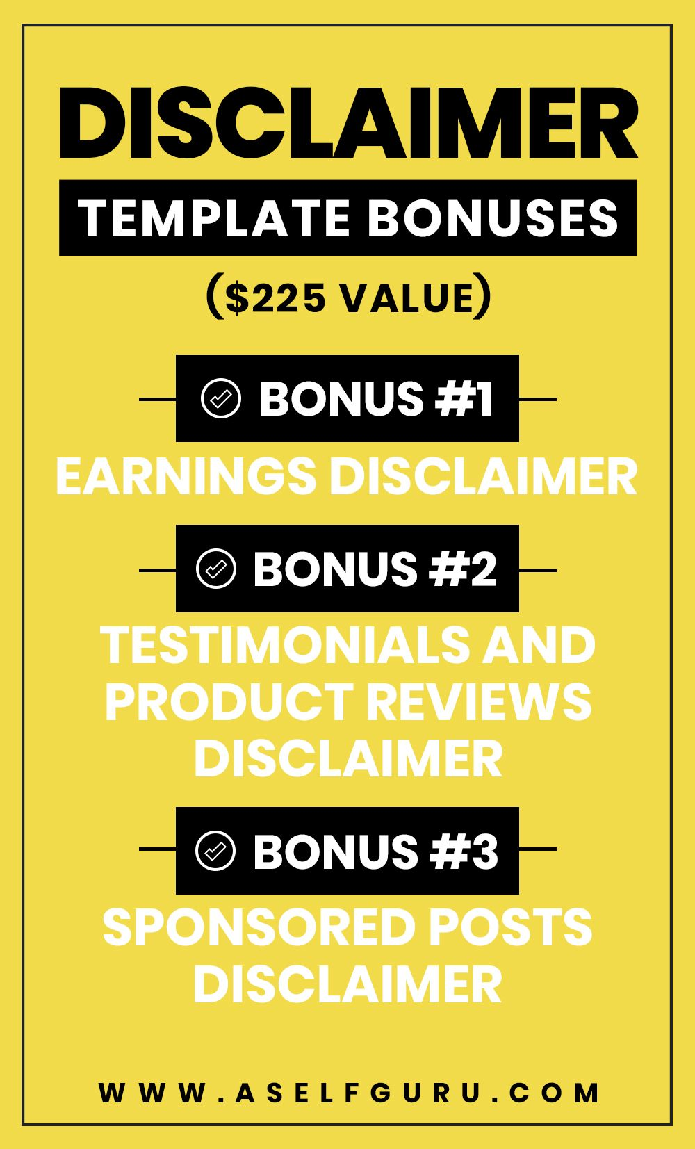 Earnings Disclaimer >> Disclaimer Template For Blog Includes 3 Bonuses Earnings Disclaimer