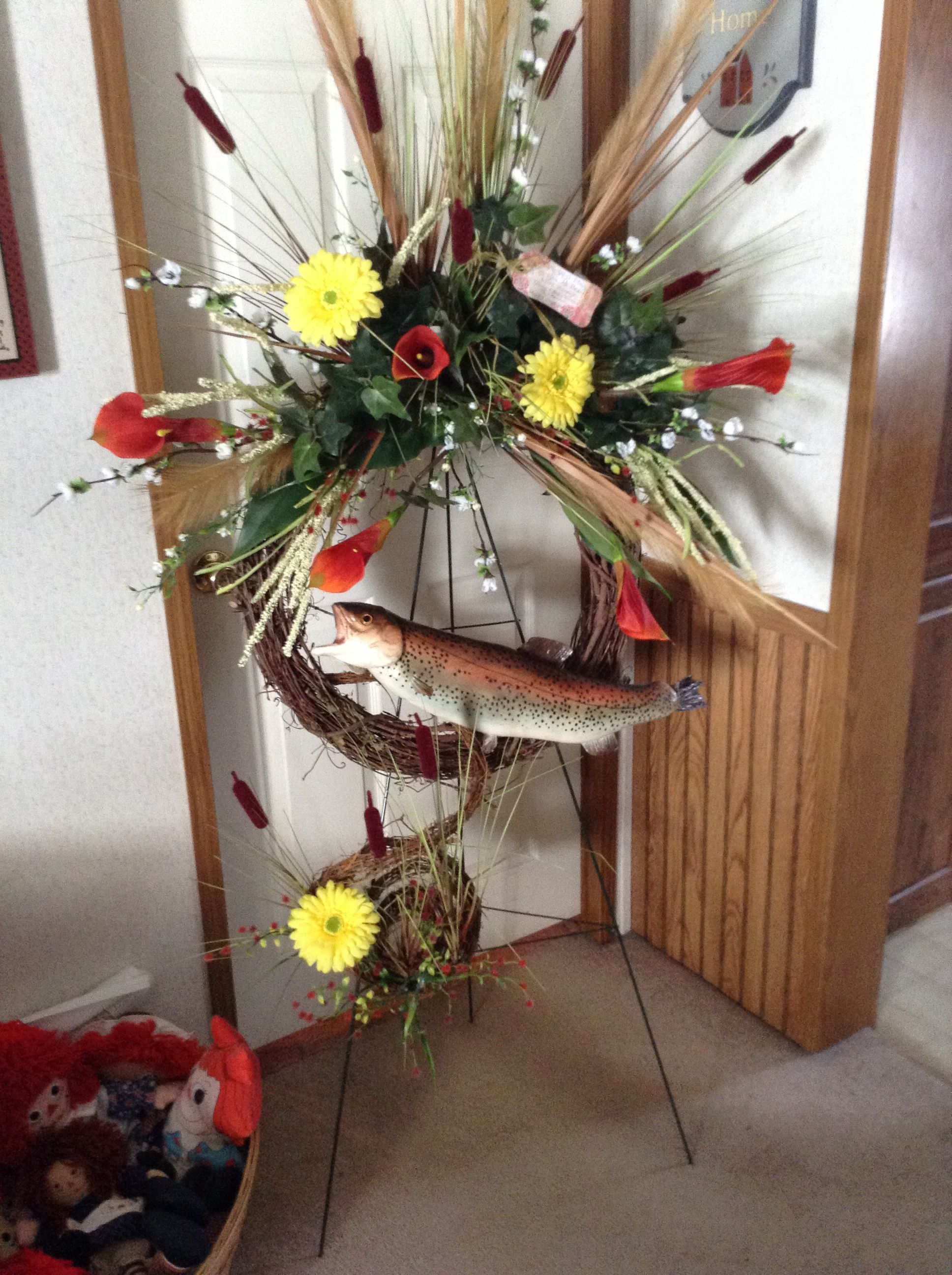 Funeral Wreath Design For A Man Wreaths Pinterest Funeral
