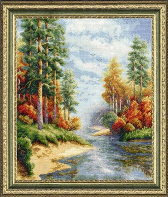 """Counted Cross Stitch Kit RIOLIS 1468 /""""By the River/"""""""