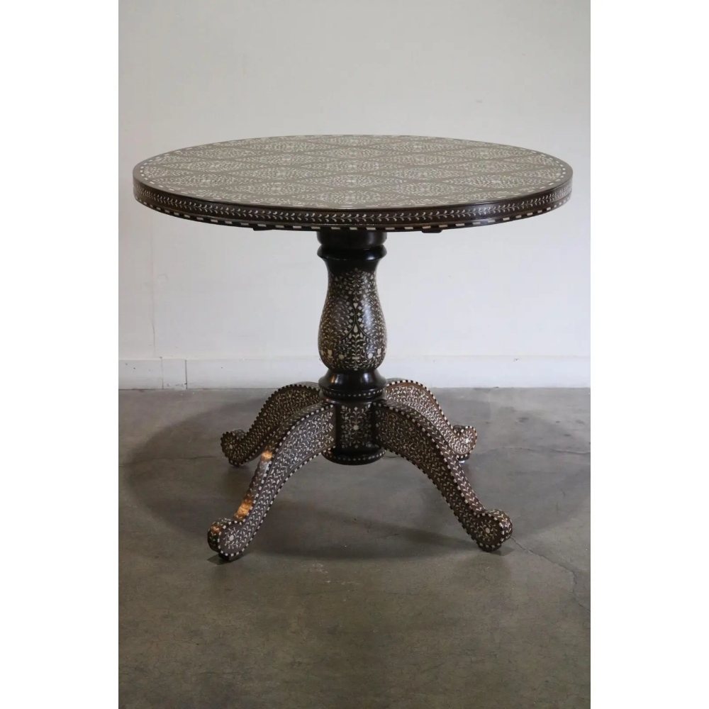 Indian Inlay Round Table Chairish Home Decor Table Home Decor Kitchen