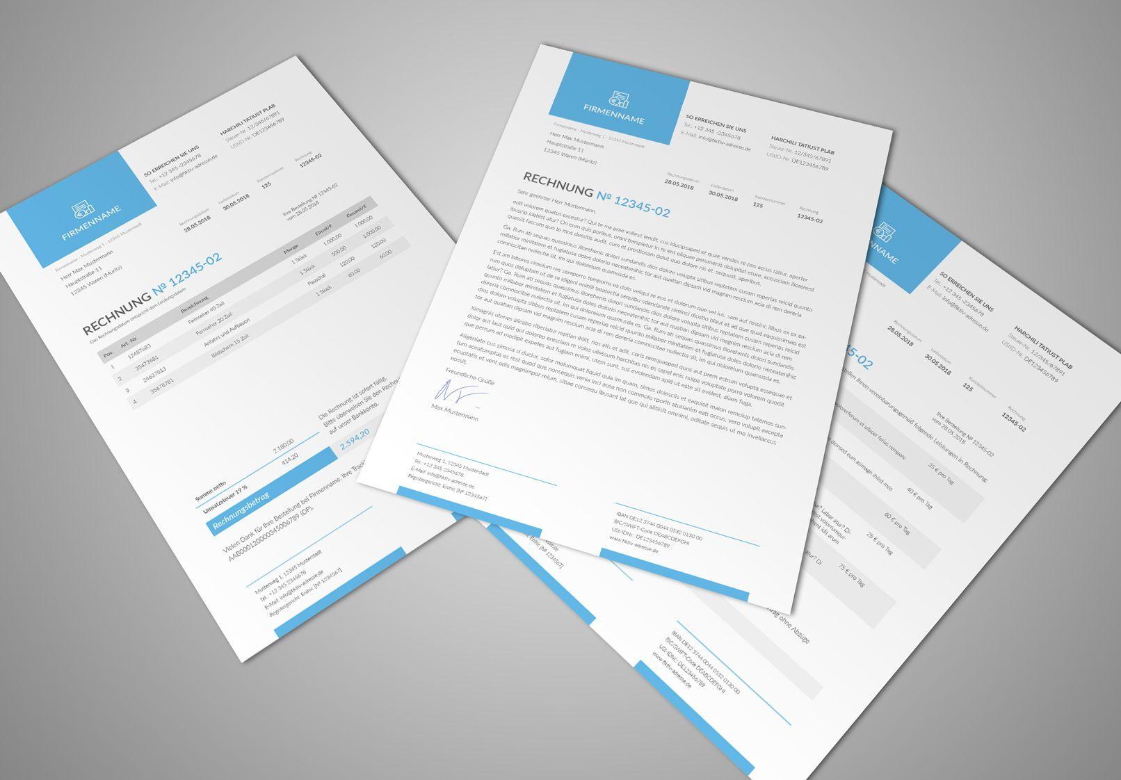 Rechnungsvorlagen Lieferscheine Und Angebote Fur Word Co Rechnungsvorlage Rechnung Vorlage Rechnung