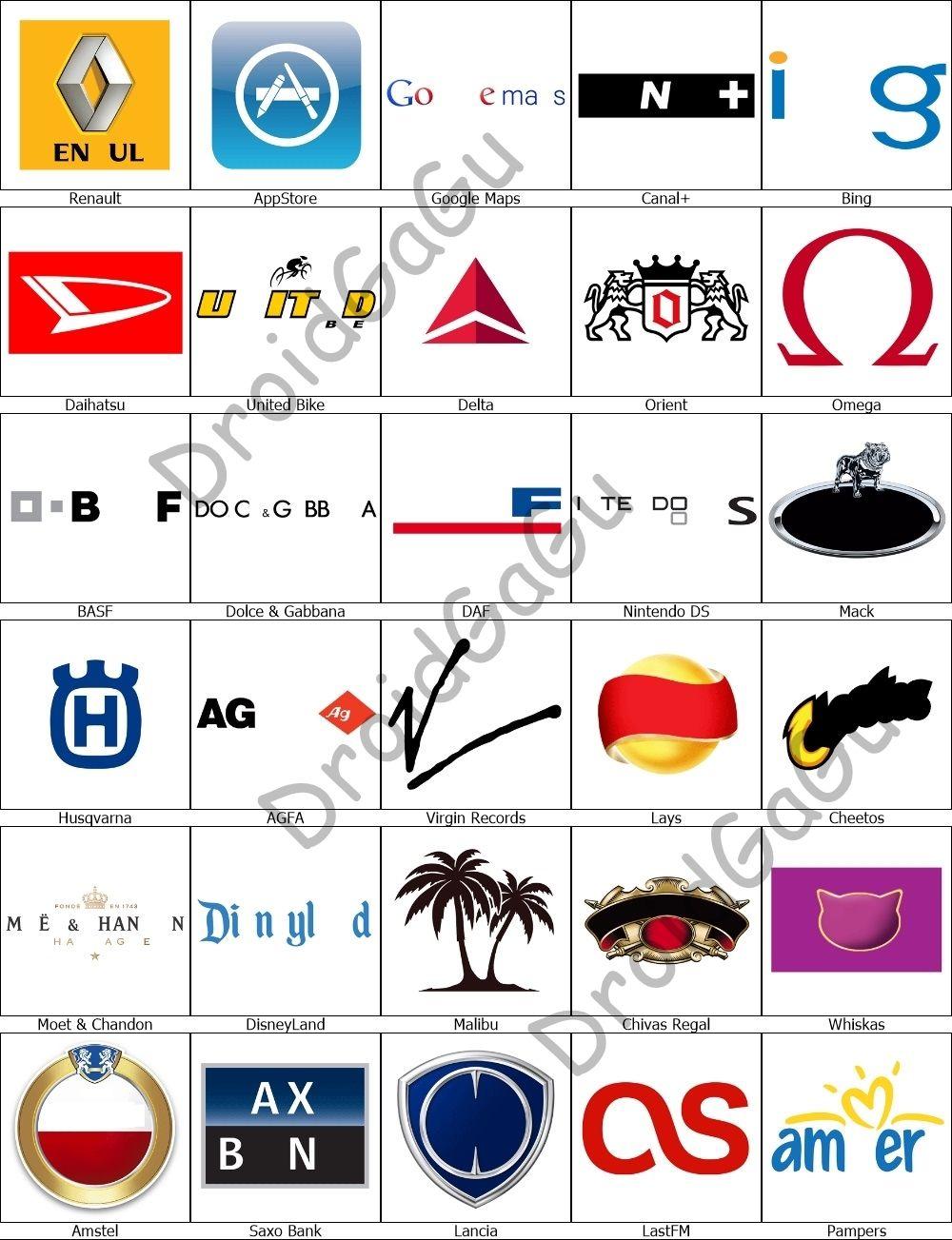 Level 10 Logo Quiz Answers Bubble Logo quiz answers
