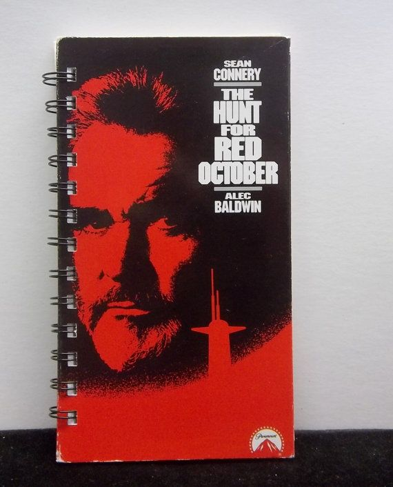 Recycled Notebook From The Hunt For Red by AWRecycledJournals, $8.00