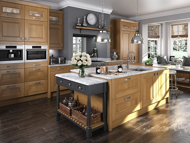 An Innova Bedale Oak Kitchen Design Idea Http Www Diy