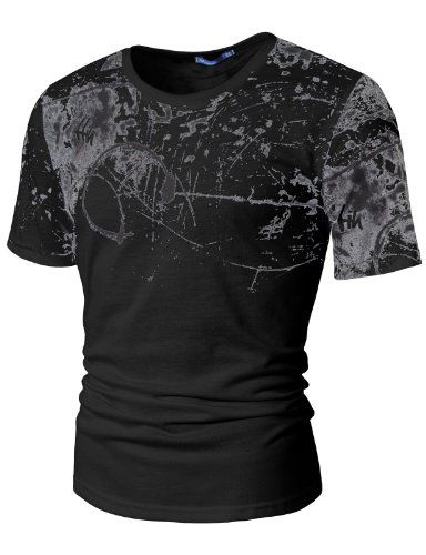 Amazon.com: Doublju Mens Scribble Graphic T-shirts: Clothing