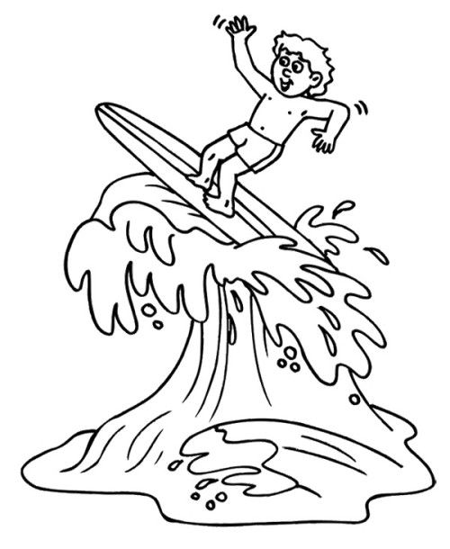 Summer Surfing Coloring Pages Coloring Pages Big Wave Surfing