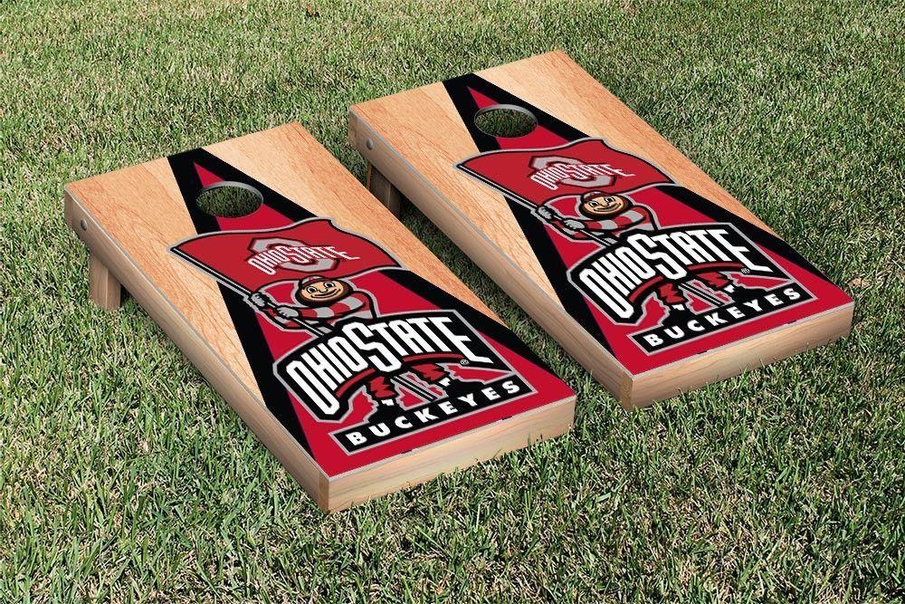 Ohio State Buckeyes Triangle Hardcourt Cornhole Bag Toss Game