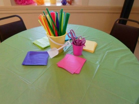 Craft Table Easy Tissue Paper Hibiscus Flower Craft For The Kids
