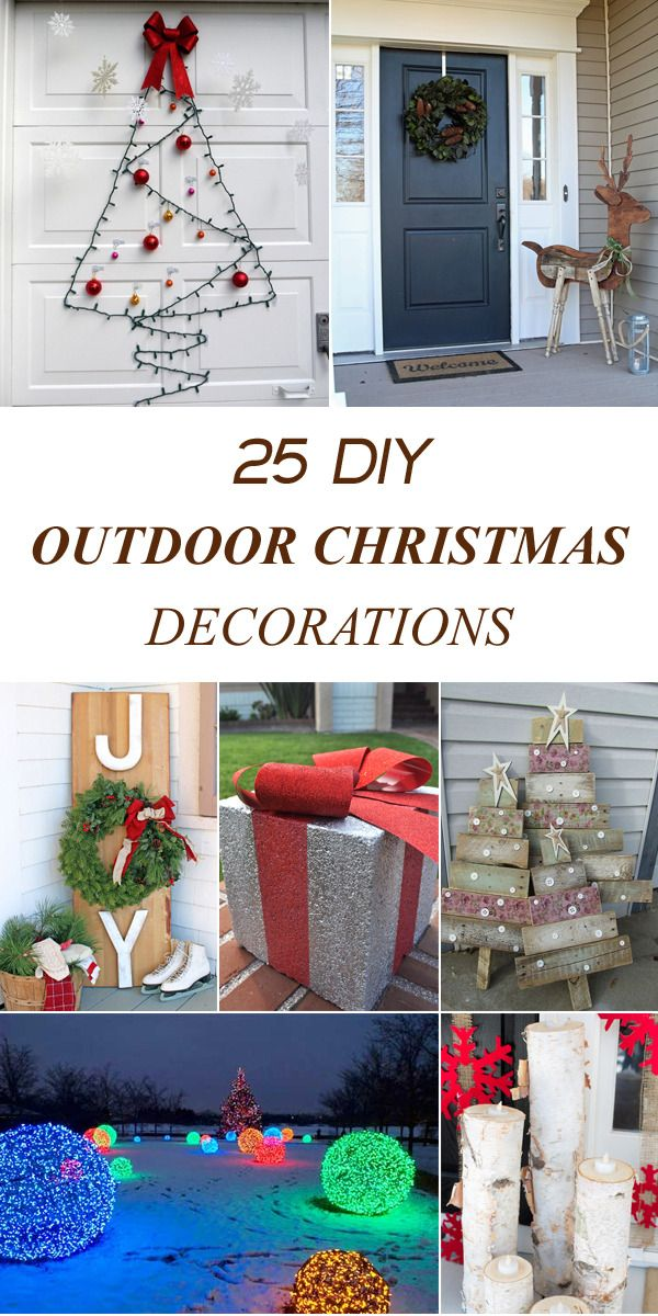 diytotry u201c 25 Amazing DIY Outdoor Christmas