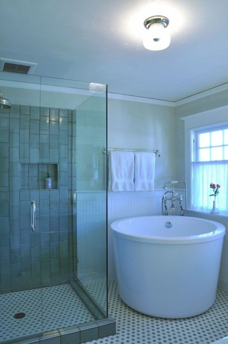Bathroom, Deep And Small Corner Porcelain Tub Planted Towel Metal ...