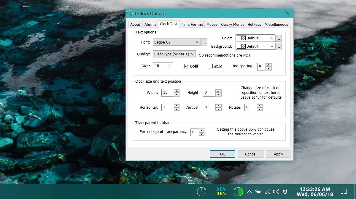 How To Customize The System Tray Clock On Windows 10 Clock