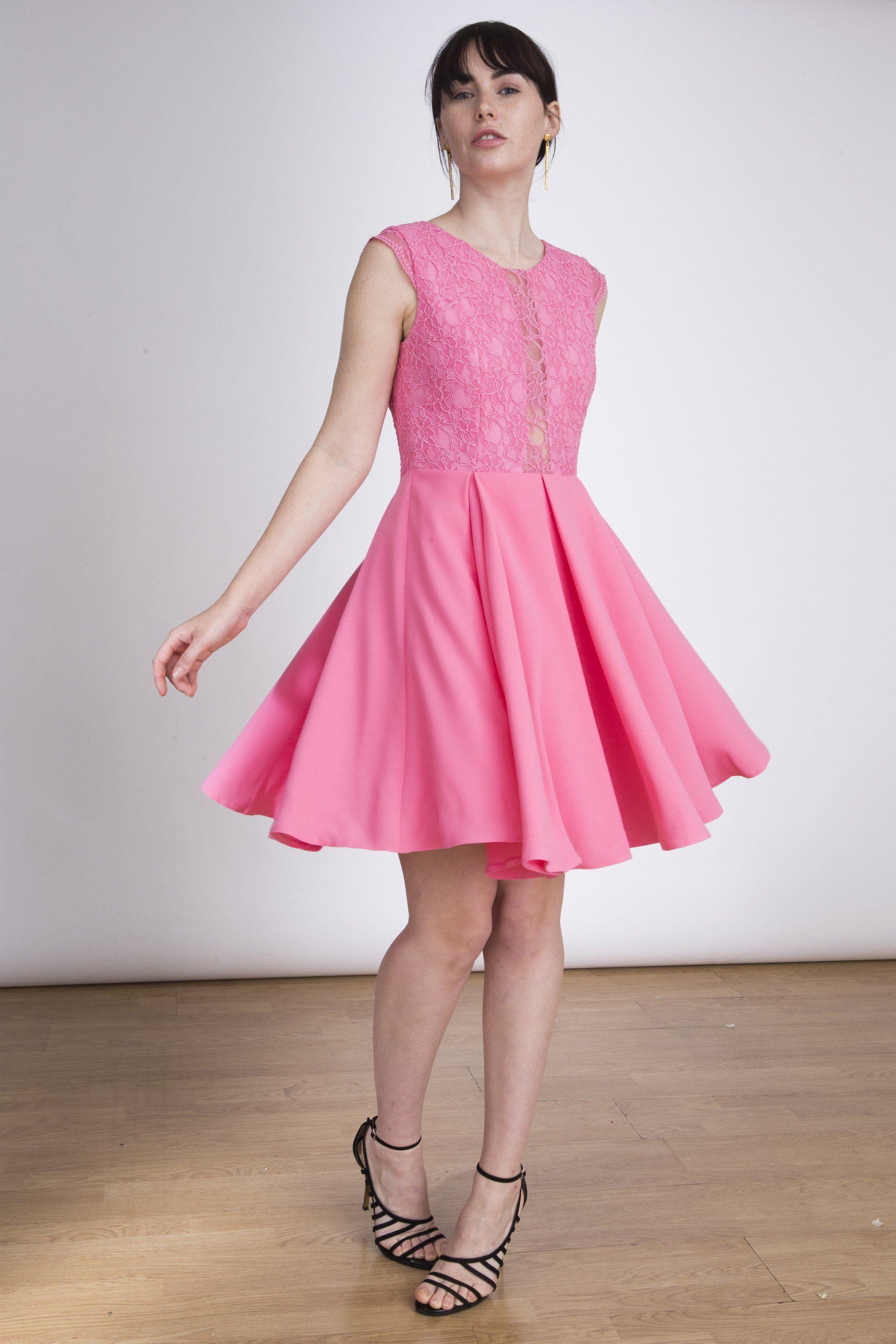 The Christy Mini Dress - Lace Millennial pink dress | Dresses ...