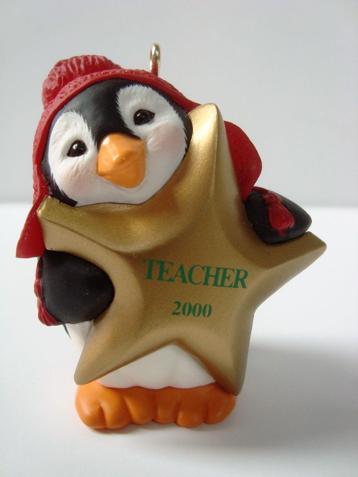 Hallmark Keepsake Ornament 2000 GoldStar Teacher with box