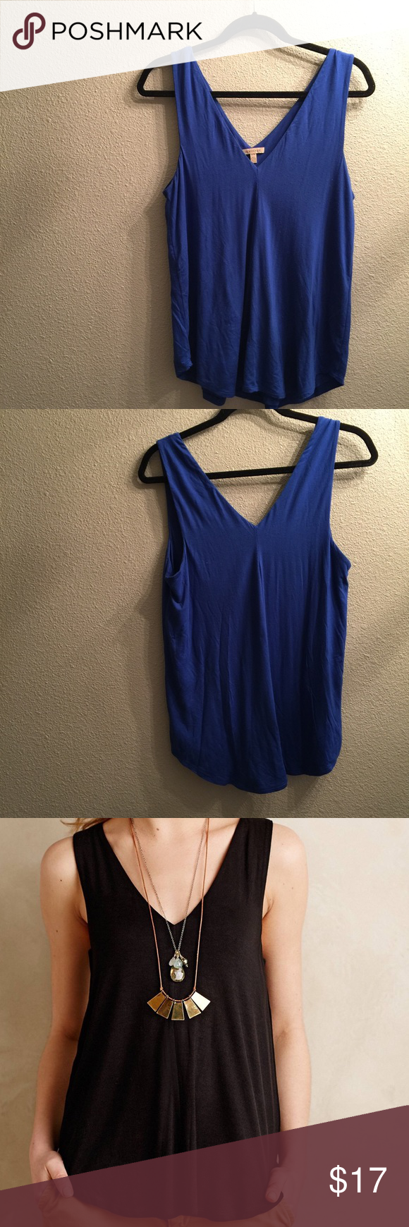 50122b21e4 Anthropologie - Bordeaux Double-v Swing Tank Anthropologie - Bordeaux Double -v Swing Tank