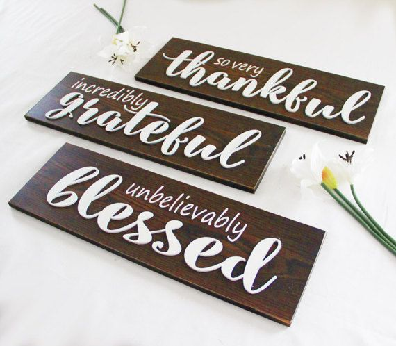 Thankful Grateful Blessed (Set of 3) Signs, Rustic Style Sign ... on thank you clean kitchen, thank you cards kitchen, thank you for email background, new wallpaper for kitchen, thank you background wallpaper,