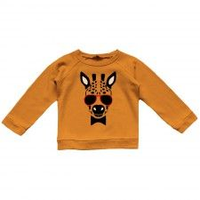 sweatshirt girafe orange