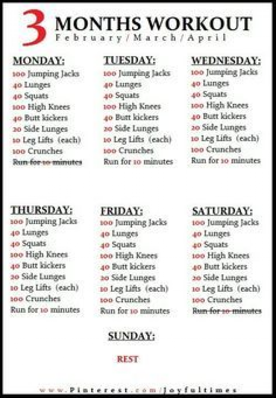 3 Month Workout Plan June1st August 31 Dietworkout Month Workout 3 Month Workout Plan 3 Month Workout