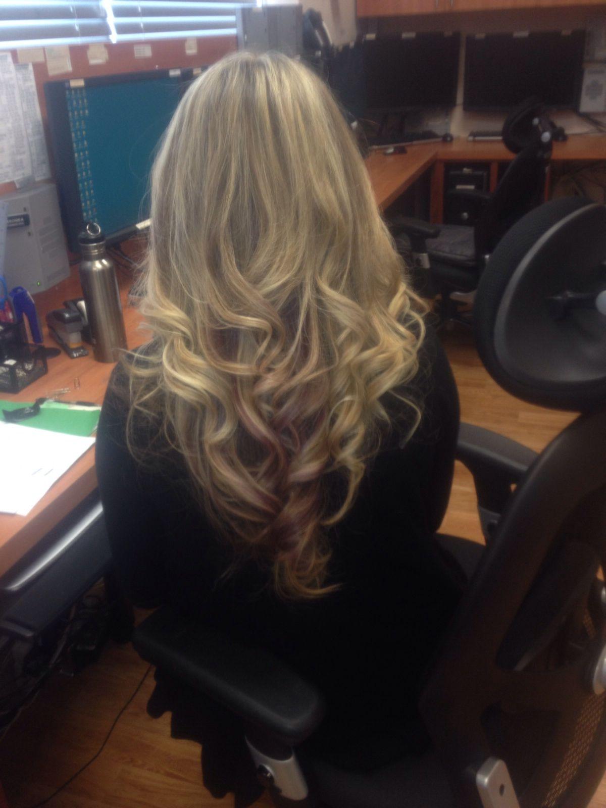 Blonde with bit of purple