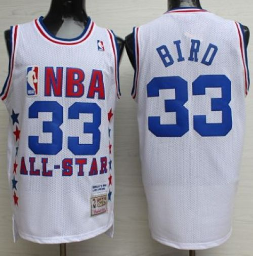 4b35f8867 Mitchell And Ness Celtics  33 Larry Bird White 1990 All Star Stitched NBA  Jersey