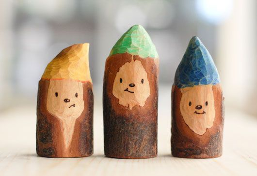 3 Wooden Gnomes by Max Williams Design  - Holz_Schnitzen -   #Design #gnomes #HolzSchnitzen #max #Williams #Wooden #handmadetoys